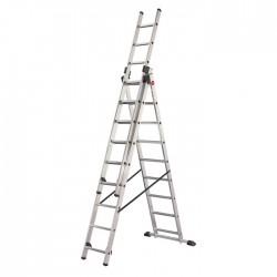 Escalera aluminio triple combinada Hailo 7312