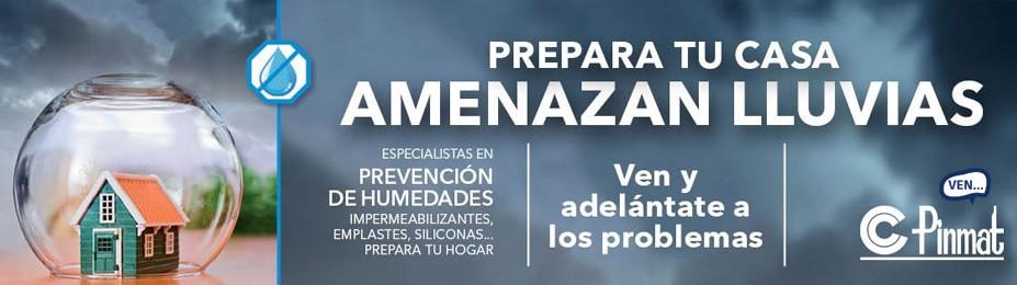 Prepara tu casa Amenazan lluvias