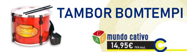 Tambor Bomtempi Mundo Cativo by Pinmat