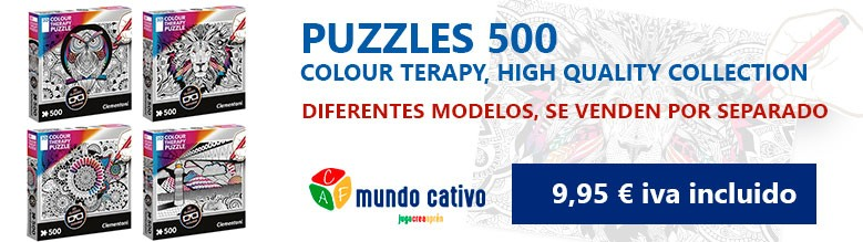Puzzle 500 Colour Teraphy - Mundo Cativo by Pinmat